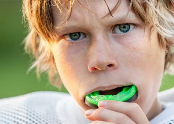 Boy with a Mouth Guard