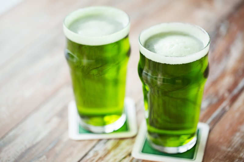 Green beer for St. Paddy's Day