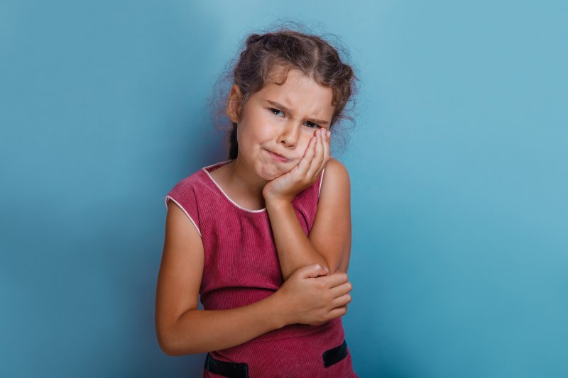 Child with a toothache